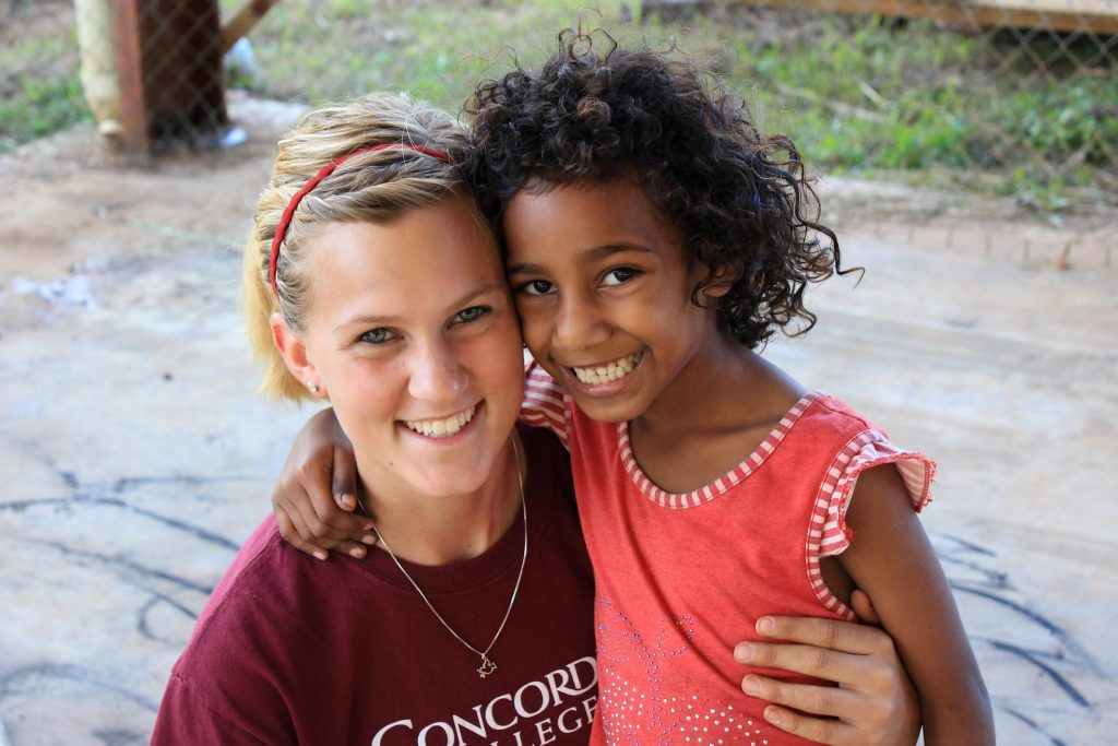 child and mission volunteer